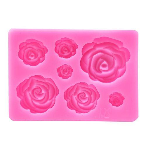 Rose DIY Aromatherapy Plaster Drop Gum Mold,Cake Fudge Chocolate Decoration Silicone Mold,Bake Gadget Tool
