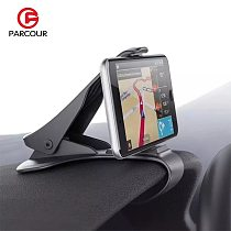360 Degree Rotation Car Phone  Holder Gps Stand Support Smartphone in Voiture ABS Black Universal Auto Bracket Car Accessory