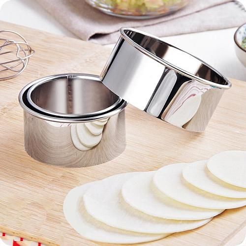 Stainless Steel Biscuit Mould Portable Round Shape Cake Fondant Mold Kitchen Accessories Kitchen Gadgets Baking  Cookie Cutter