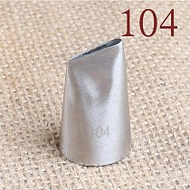 104 Big Size Icing Nozzle Decorating Tip Cake Baking Pastry Decorating Tool For Creating Rose Petal Shape Bakeware