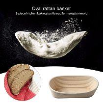 2pcs Multi-functional Rattan Bread Dough Basket Practical Durable Creative Baguette Proofing Proving Fermentation Baskets