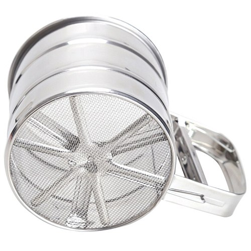 Mesh Flour Sifter Manual Sugar Icing Shaker Stainless Steel Cup Shape Kitchen Tools STSF666