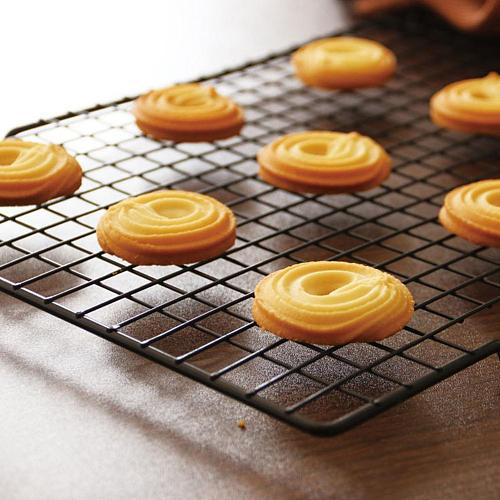Non-Stick Cake Cooling Tray Bread Grid Net Rack Biscuit Cookie Holder Shelf Cooling Rack Cooling Grid Baking Tray