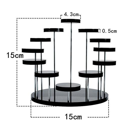 Cupcake Stand Transparent Black Rack Jewelry Display Desserts Pastry Cupcake Stands Cake Rack Holder Tool Decoration Fruits
