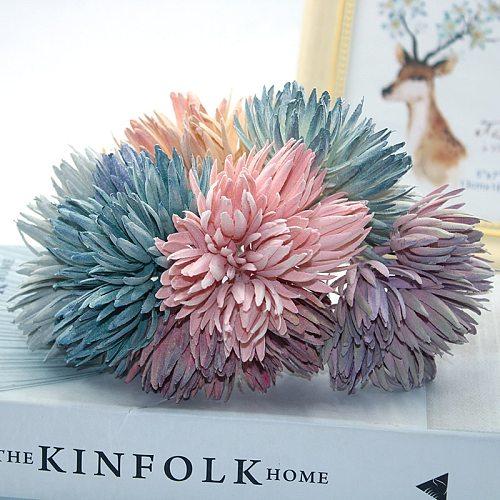 6 pieces of multi-color antique decoration pine needles Christmas plant wreath wedding decoration flowers handmade diy gift box