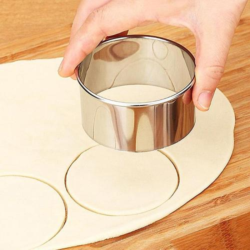 3pcs  Home Stainless Steel Round Dumplings Molds Set Cutter Maker Cookie Pastry Wrapper Dough Cutting Tool Kitchen Gadgets