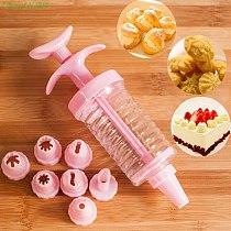 1Set Cookie Biscuit Making Maker Pump Press Machine Decor Kitchen Mold Tools Set