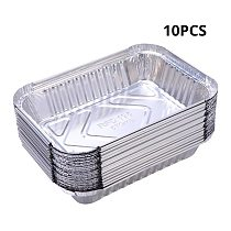 300ml Disposable BBQ Drip Pan Tray Aluminum Foil Tin Liners for Grease Catch Pans Replacement Liner Trays
