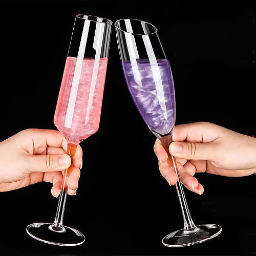 1/6PCS Lead-free Crystal Transparent Champagne Set in Household Sparkling Highfoot Sweet Wine Laser Cold Cut Cup Mouth Glass