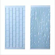 Tree Bark Brick Wall Bakeware Tools Silicone 2PCS/Set Food Grade Texture Kitchen Accessories Cake Decorating Fondant Mold