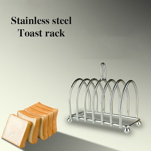 Stainless Steel Toast Bread Rack Restaurant Home Bread Holder 6 Slices Food Display Tool For Home Kitchen Restaurant