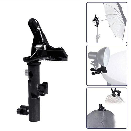 315g Reflector Clamp Clip Holder Light Stand Attachment 3/8  Screw Swivel to Adapter For Photo Reflector 1/4  Mount Studio A0K2