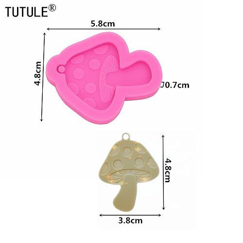 Toadstool Mushroom Earrings Silicone Resin Mold,Mushroom Earings Silicone Mold-Jewelry Flexible Resin Mold-Shiny Mold-Food Mold