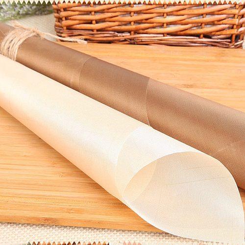 60*40cm Heat-Resistant Pad Reusable Baking Mat Baking Sheet Non-Stick Fiberglass Cloth Multifunctional BBQ Macarons Easy Clean