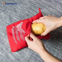 Microwave Potato Cooker Bag Tortillas Cooker Bag Washable and Reusable Bag Perfect Potatoes  in 4 Minutes