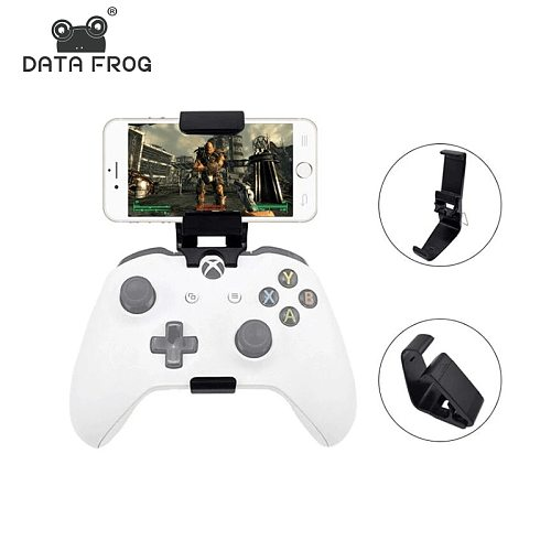 Data Frog Phone Stand Mount Hand Grip For Xbox ONE Slim/S Game Controller Gamepad Stands For Xiaomi Iphone X 6 7 8 Plus Holder