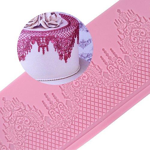 Mom&Pea GX147 Free Shipping Silicone Swag Lace Mold Big Size Cake Decoration Fondant Cake 3D Mold Food Grade Silicone Mould