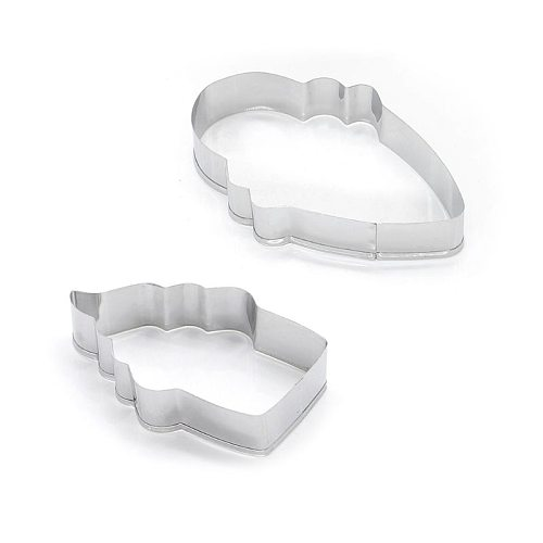 2pcs/set Stainless Steel Cupcake Ice Cream Cookie Stencils Pancake Biscuit Cutter Tools Baking Pastry Modelling Tools