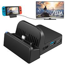 Portable TV Output Converter For Nintendo Switch Charging Docking Mini Switch Stand Holder Charging Station For Nintendo Switch
