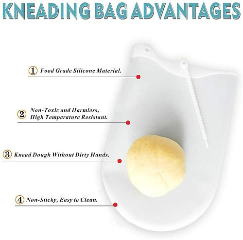 New Silicone Kneading Dough Bag Preservation Flour-mixing Bag Soft Silicone Knead Dough Blender Set Kitchen Gadget Accessories