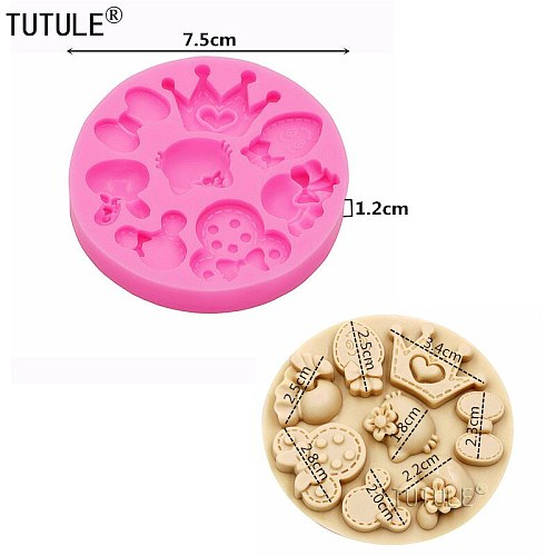 Crown Silicone Rubber Flexible Food Safe MOld mould-resin, clay, fondant, chocolate, candy,Butterfly Knot Fondant Silicone Mold