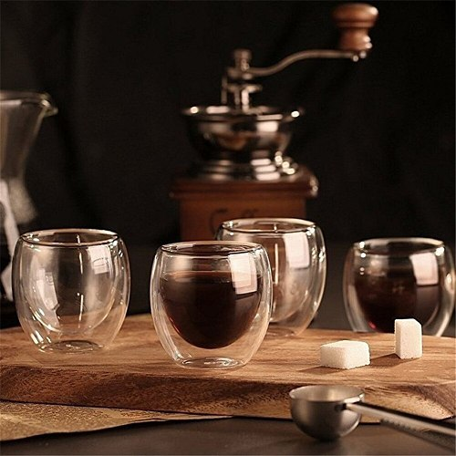 New Heat-resistant Double Wall Glass Cup Beer Espresso Coffee Cup Set Handmade Beer Mug Tea Glass Whiskey Glass Cups Drinkware