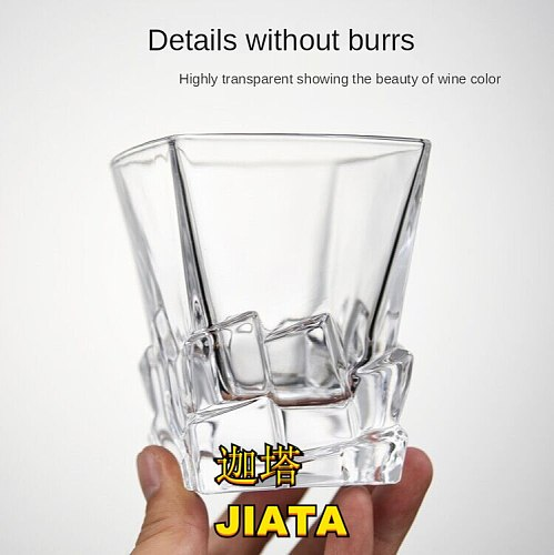Spirit Glass High White Material Glass Light Luxury Beer Glass European Classical Irregular Bar Personality Iceberg Glass 320ml
