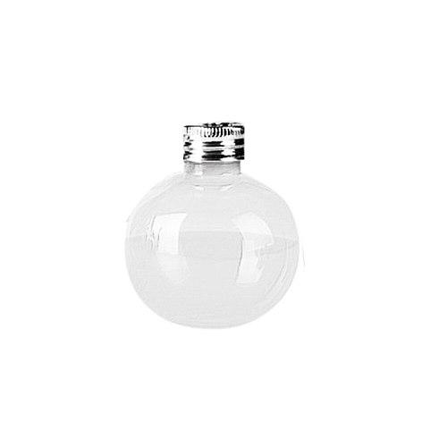 1/6 Pack Elegant Bulb Water Bottle Booze Filled Christmas Tree Ornaments Water Bottle Milk Juice Bulbs Cup 50ml Transparent