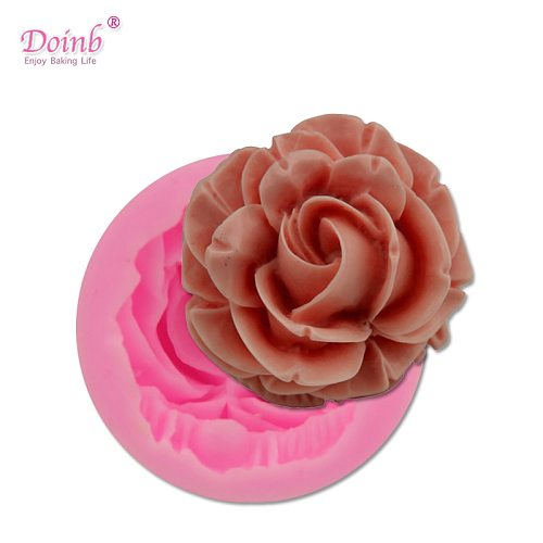 Bloom Rose Silicone Cake Mold 3D Flower Fondant Mold Cupcake Jelly Candy Chocolate Decoration Baking Tool Moulds FQ2825