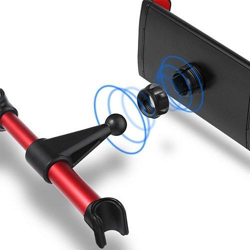 360 Degree Rotation Car Mount Headrest Bracket Stand Mobile Phone Holders Car Back Seat Phone Tablet PC Holder 4.7-12.9 inch