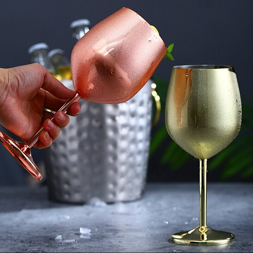 220/500ml Wine Party Champagne Coupes Glass Cocktail Glass Champagne Flutes Plating Wine Cup Goblet Electroplated Plastic Cups