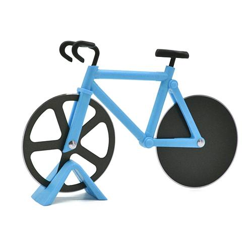 New Bicycle Pizza Cutter Wheel Non-stick Dual Cutting Wheels Stainless Steel Bike Pizza Slicer For Pizza Lovers Holiday Vacation