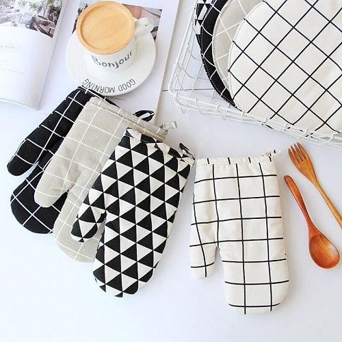 Cotton Oven Glove Heatproof Mitten Kitchen Cooking Microwave Oven Mitt Insulated Non-slip Glove Thickening N07
