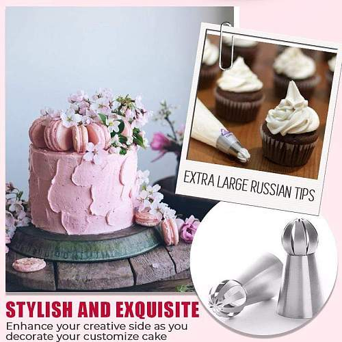 Cake Decor Piping Tips DIY Cake Decoration Decorating Mouth Reusable Icing Piping Nozzles Set Flower Cream Tips Baking Tools