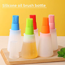 Portable Silicone Oil Bottle with Brush Grill Liquid Pastry Baking BBQ Tools Barbecue Pancake Kitchen cooking accessory Gadget