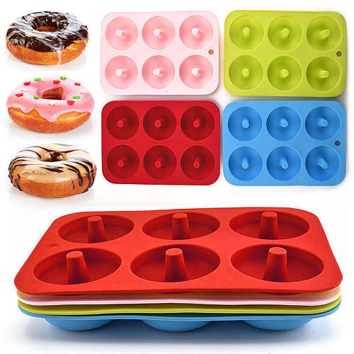 Silicone Mold Donut Baking Pan Non-Stick Molds Baking Pastry Chocolate Cake Dessert DIY Decoration Tools Kitchen Reusable Moulds