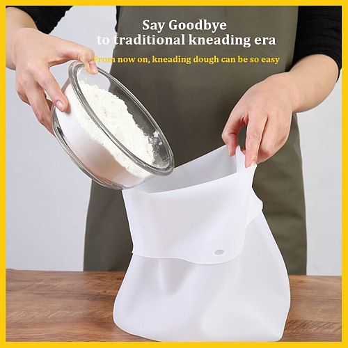 Silicone Kneading Dough Bag Preservation Flour-mixing Bag Soft Magical Knead Dough Blender Set Kitchen Gadget Accessories