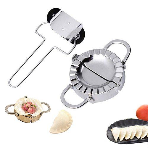 Stainless Steel Dumpling Maker Diy Jiaozi Pierogi Pie Mould Tools Creative Wrapper Cutter Bakeware Accessories Kitchen Utensils