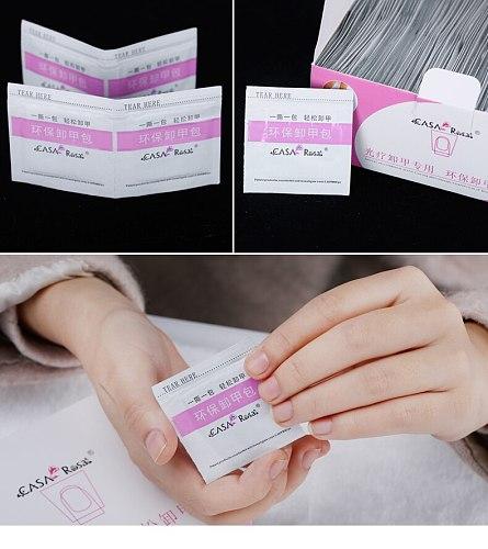 10 PCS/LOT nail polish remover tissue wipe tin foil Nail Art gel Easy cleaner gel nail Wraps UV Gel Remover
