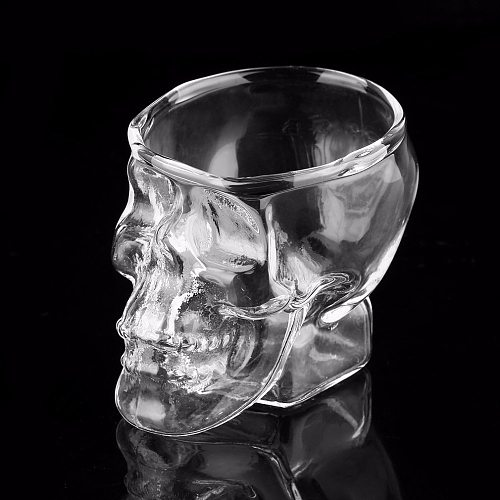 Skull Head Shot Glass Cup Wine Mug Beer Glass Mug Crystal Whisky Vodka Tea Coffee Cup 80ml Gift Water Bottlediscount