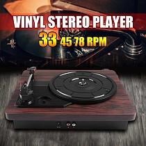 33, 45, 78 RPM Record LP Player PVC Antique Gramophone Turntable Disc Vinyl Audio RCA R/L 3.5mm Output Out USB