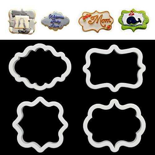 4pcs Gingerbread Mold Cookie Cutter Plastic 3D Cookies Pastry Tools Biscuit Cutter Cake Baking Accessories