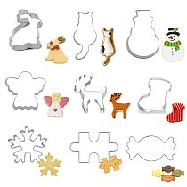 30 Styles Cookie Cutters Tools Fondant Biscuit Cutter Mold Pastry Cake Forms Gingerbread House Christmas Baking Decorating Tools
