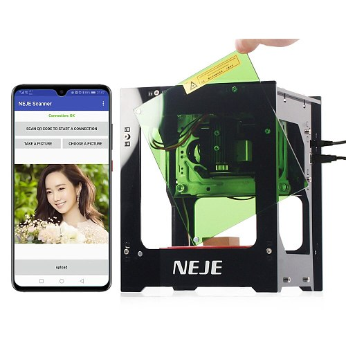 NEJE DK-8-KZ 3000mW Laser Engraver 445nm Smart AI Mini Engraving Machine Supports Off-line Operation Print Machine for Windows
