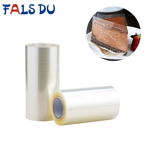 Transparent Clear Mousse Surrounding Edges Wrapping Tape For Baking Cake Collar Roll Packing DIY Cake Decorating Tools