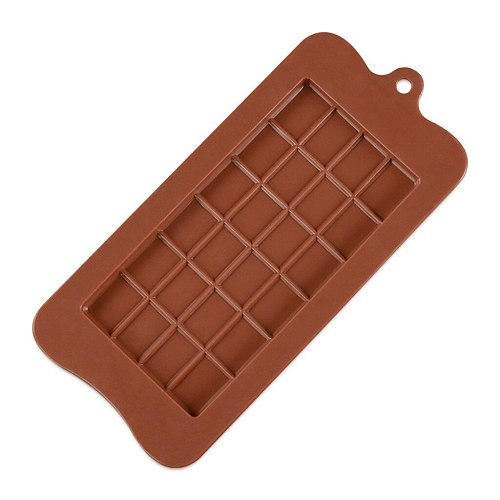 1PCS Silicone Mold 24 Cells Chocolate Mold Fondant Patisserie Candy Bar Mould Cake Mode Decoration Kitchen Baking Accessories