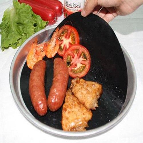 2PCS Reuseable Non-stick Pan Mat Round Pan Liner Sheet Tool To Prevent Sticking Pot Food BBQ Baking Mats Cooking Tool