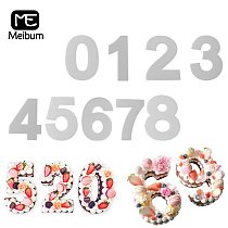 Meibum PET Plastic 0-8 Numbers Cake Mold Birthday Anniversary Cream Mousse Mould 4/6/8/10/12/14/16inch Decorating Pastry Tools