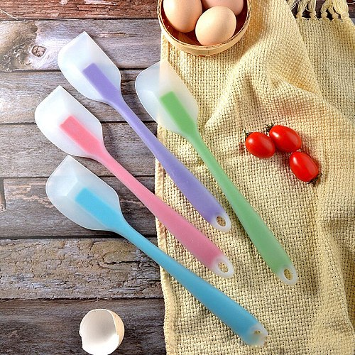Silicone Baking Pastry Spatula Non Stick Cream Butter Cake Scraper Cutter Spreader Heat-Resistant Kitchen Baking Pastry Tools
