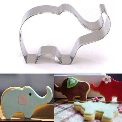 Animal Elephant Shape Confectionary Biscuit Cookie Cutters Cake Decorating Tools Candy Sugar Craft Chocolate Baking Molds
